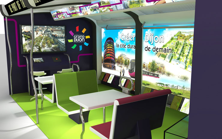 Grand Dijon, salon international de l'immobilier MIPIM de Cannes 2012 - Stand d'exposition